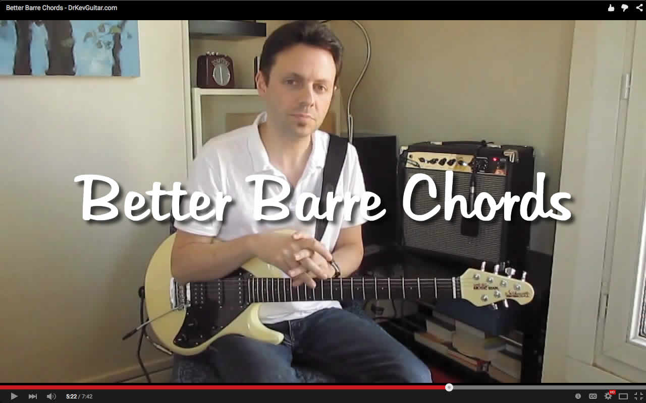 Its Just A Guitar Not Rocket Science How To Read Chord Diagrams Traveling Lessons Video Better Barre Chords