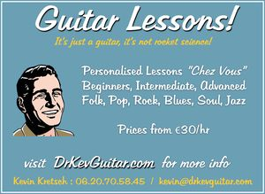 DrKev Guitar lessons in Paris - Advert