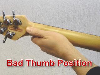 Bad thumb position